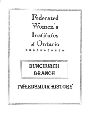 Dunchurch WI Tweedsmuir Community History, Volume 3