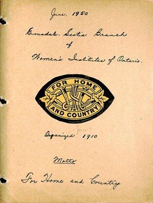 Emsdale Scotia WI Tweedsmuir Community History, Volume 1