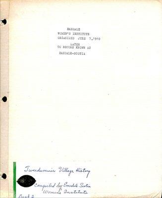 Emsdale Scotia WI Tweedsmuir Community History, Volume 2