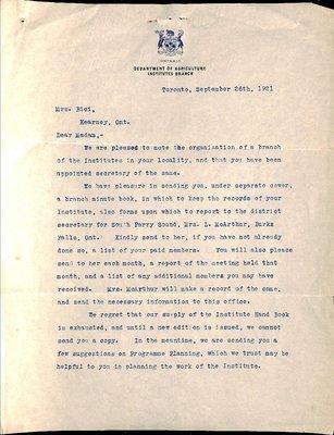 Kearney WI Tweedsmuir Community History, Volume 1