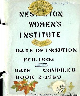 Nestleton WI Tweedsmuir Community History, 1969-76