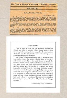 Rosseau WI Tweedsmuir Community History, Volume 1