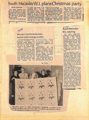 South Macaulay WI Tweedsmuir Community History, Volume 3