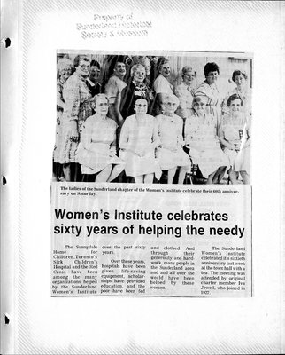 Sunderland WI Tweedsmuir Community History, Volume 10