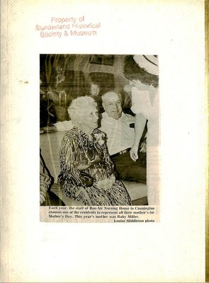 Sunderland WI Tweedsmuir Community History, Volume 12