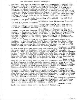 Sunderland WI Tweedsmuir Community History, Volume 17