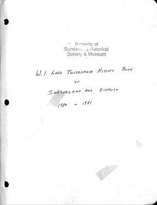 Sunderland WI Tweedsmuir Community History, Volume 2