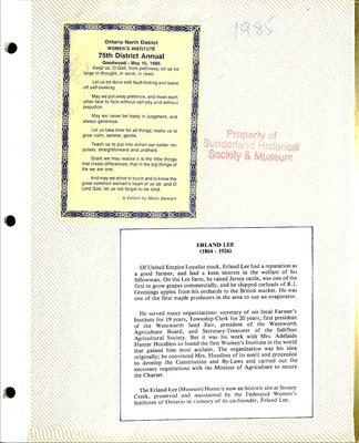 Sunderland WI Tweedsmuir Community History, Volume 5