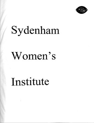 Sydenham WI Tweedsmuir Community History, Volume 10