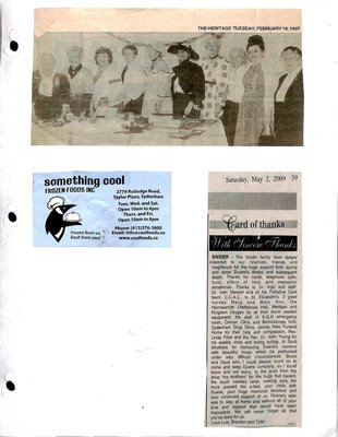 Sydenham WI Tweedsmuir Community History, Volume 13