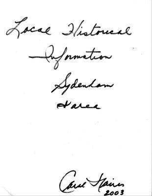 Sydenham WI Tweedsmuir Community History, Volume 4