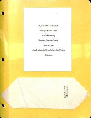 Sydenham WI Tweedsmuir Community History, Volume 6