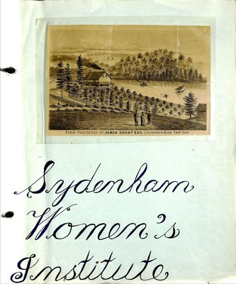Sydenham WI Tweedsmuir Community History, Volume 1