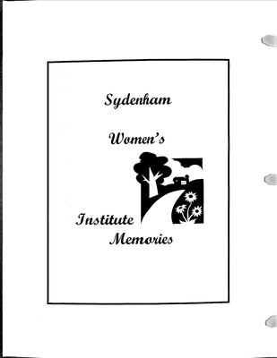 Sydenham WI Tweedsmuir Community History, Volume 5