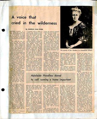 Woodville WI Tweedsmuir Community History, Volume 1