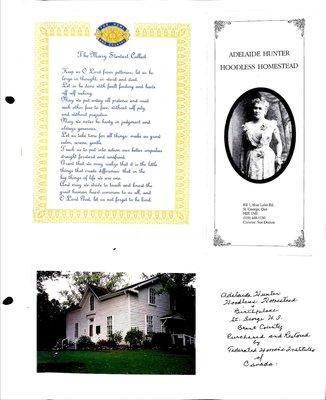Woodville WI Tweedsmuir Community History, Volume 3