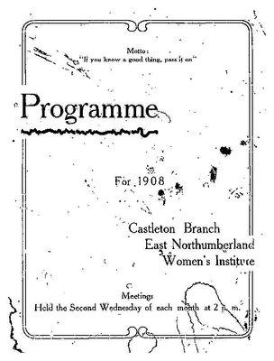 Castleton WI Programs, 1909-2017