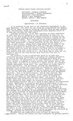 Castleton WI, Grafton Literary Society Short Courses, Volume 1