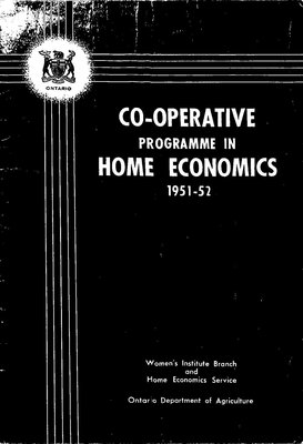 FWIO Publication: Co-Operative Programme in Home Economics, 1951-52
