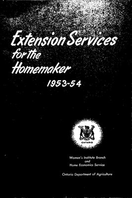 FWIO Publication: Extension Services for the Homemaker, 1953-54