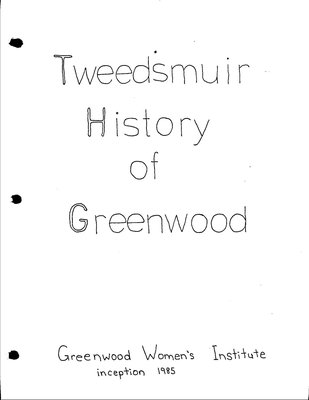 Greenwood WI Tweedsmuir Community History, Volume 1
