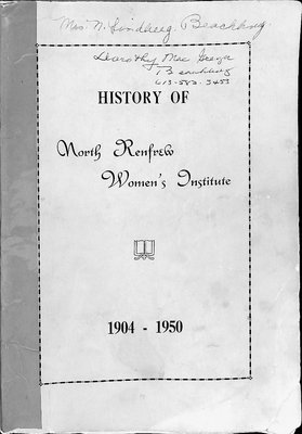 History of North Renfrew Women's Institute, 1904-1950