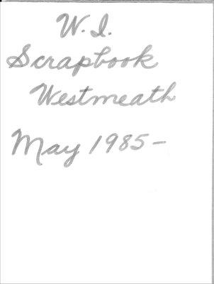 Westmeath WI Scrapbook, 1985-1986