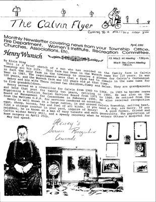 Calvin WI, The Calvin Flyer