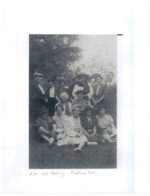 Mattawa WI Photograph, 1934 Meeting