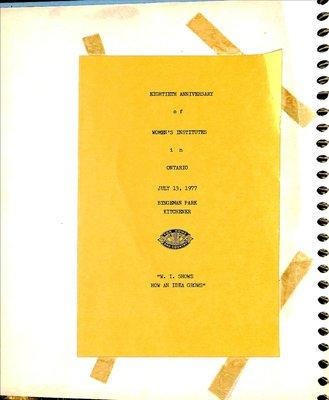 Mattawa WI Scrapbook, 1977-79