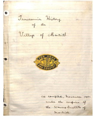 Monteith WI Tweedsmuir Community History, Volume 2: 1913-76