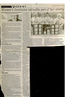 Nipissing District Women's Institute Tweedsmuir History, 1954