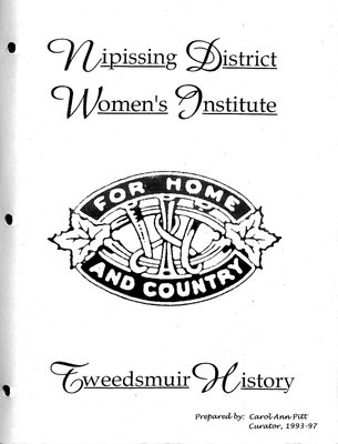 Nipissing District WI Tweedsmuir Community History, 1993-97