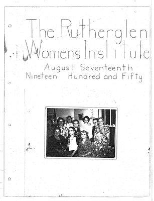 Rutherglen WI Tweedsmuir Community History, Volume 1