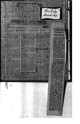 Temiskaming Centre District WI Public Relations, 1960-84