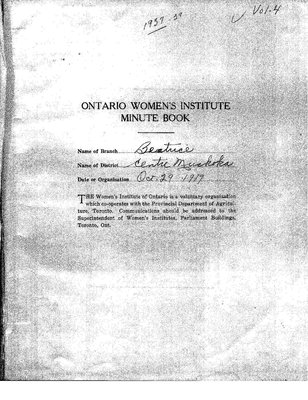 Beatrice WI Minute Book, 1937-39