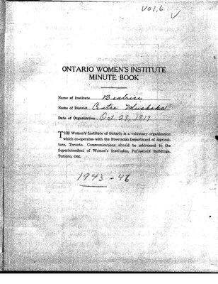 Beatrice WI Minute Book, 1943-46