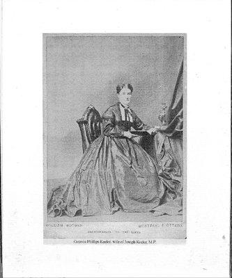 Castleton WI, Photograph of Octavia Keeler, wife of Joseph Keeler, M.P.