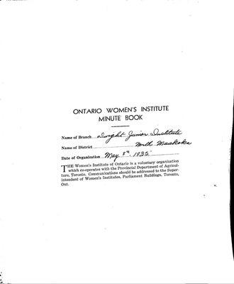 Dwight WI Minute Book, 1935-37