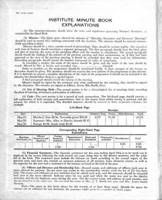 Penninsula WI Minute Book, 1947-50