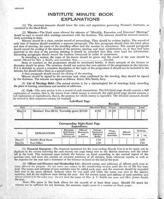 Penninsula WI Minute Book, 1955-59