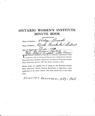Portage WI Minute Book, 1959-65