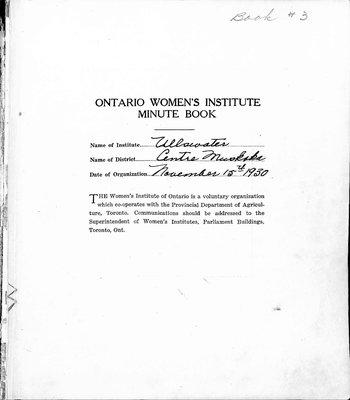 Ullswater WI Minute Book, 1941-47