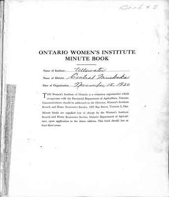Ullswater WI Minute Book, 1951-57