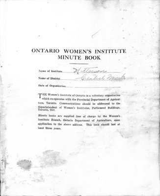 Utterson WI Minute Book, 1948-52