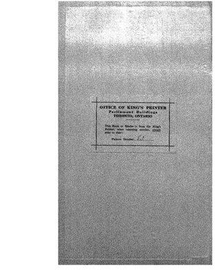 Cochrane District Minute Book, 1924-27