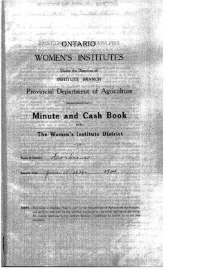 Cochrane District Minute Book, 1939-41