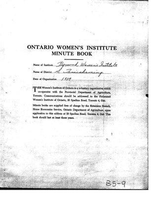 Dymond WI Minute Book, 1963-65