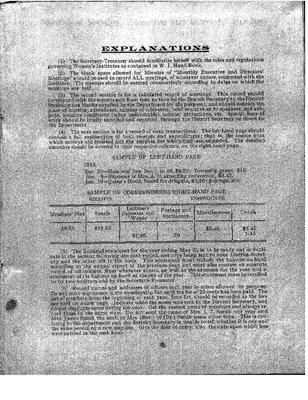 Earlton WI Minute Book, 1923-27