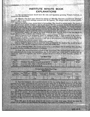 Elk Pit WI Minute Book, 1952-53